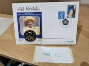 GB, 1995 PNC (Queen Mother), With GB £5 1995, VG, AQ12